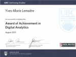 UBC award YML